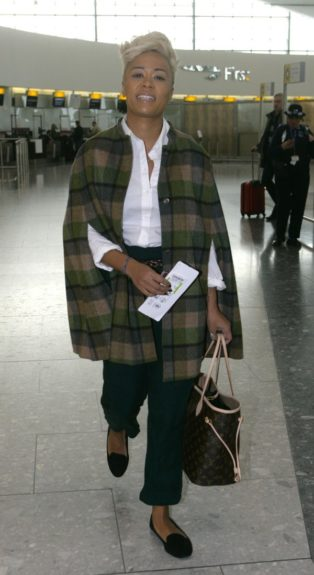 Emeli Sandé pictured at Heathrow Airport in London, UK.