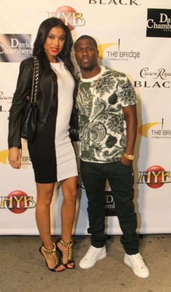 Kevin Hart and Eniko Parrishattending Ball So Hard 2 All Star Weekend, presented by Crown Royal Black andCirocin Houston, Texas.