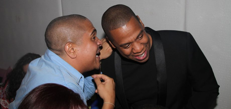 Irv Gotti and Jay-Zattending Ball So Hard 2 All Star Weekend, presented by Crown Royal Black andCirocin Houston, Texas.