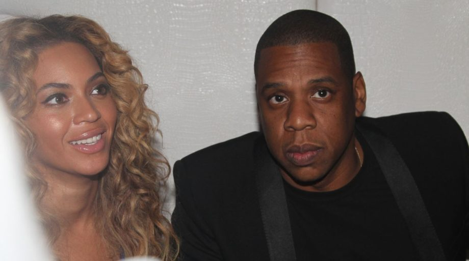 Beyoncé and Jay-Z attending Ball So Hard 2 All Star Weekend, presented by Crown Royal Black andCiroc in Houston, Texas.