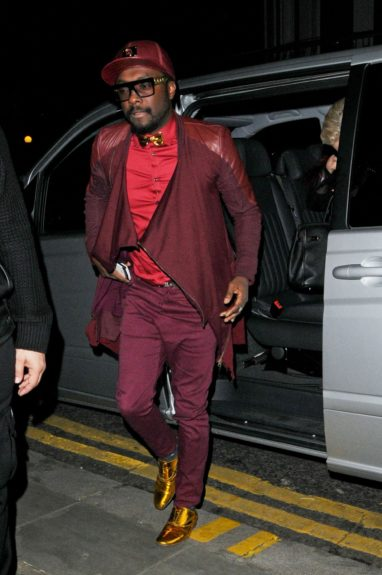 Will.i.am leaving the Royal Café party in London, UK
