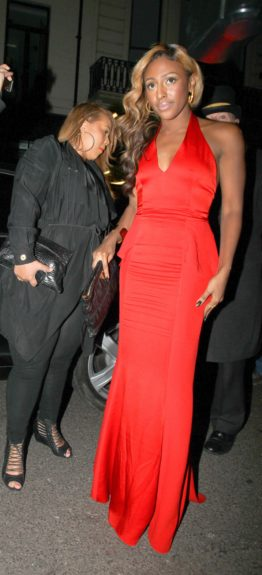 Alexandra Burke attending the Brit Awards After Party thrown by Sony at The Dover Street Arts Club in London, UK.