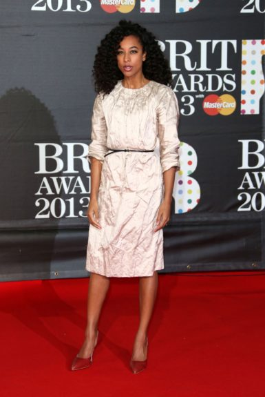 Corinne Bailey Rae attending the Brit Awards held at the O2 Arena, London, UK.