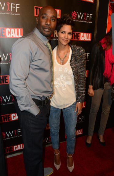 Halle Berry and co-star Morris Chestnut attend a screening of her new movie 'The Call' at Regal Cinemas South Beach in Miami Beach, Florida.