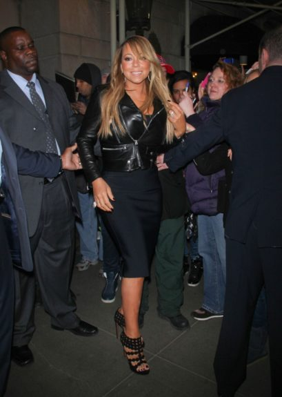Mariah Carey is photographed leaving her hotel and heading to <em>Late Night With</em><em>Jimmy Fallon</em>in New York City.