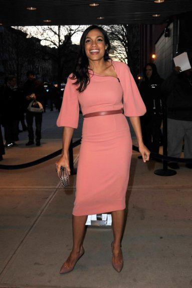 Rosario Dawson arriving at the <em>Trance</em> New York premiere held at the SVA Theater in New York City.