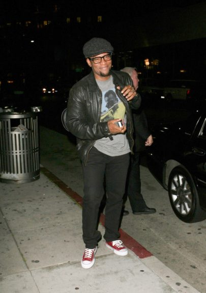 D. L. Hughley dines at Mr Chow restaurant in Beverly Hills.