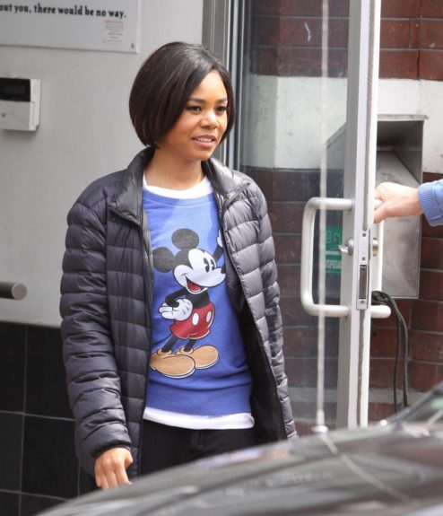 Regina Hall continues shooting in Toronto, Canada on set of <em>The Best Man Holiday</em>.