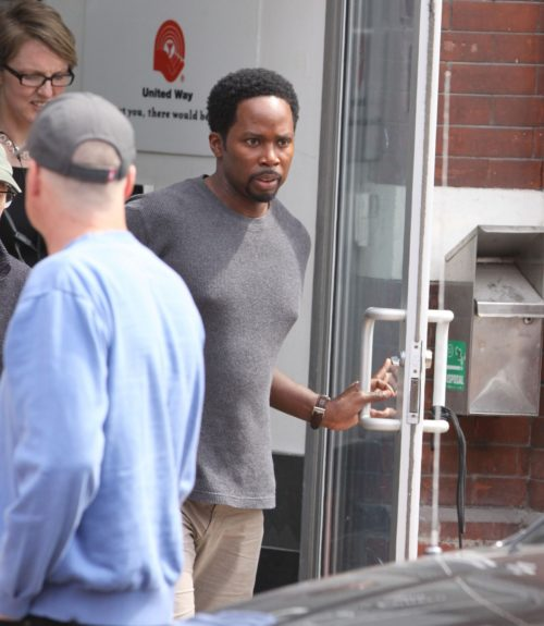 Harold Perrineau continues shooting in Toronto, Canada on set of <em>The Best Man Holiday</em>.