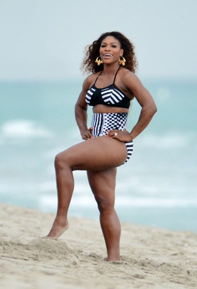 Serena Williams poses during a photo shoot in Miami Beach.