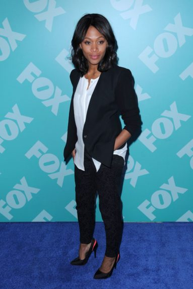 Nicole Beharie at the 2013-2014 FOX UpFront in New York City.