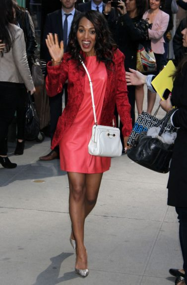 Kerry Washington at ABC Studios in New York City for an appearance on <em>Good Morning America.</em>