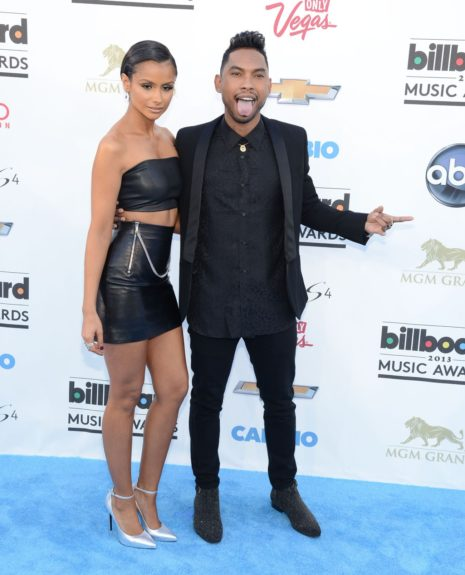 Nazanin Mandi and Miguel attending the <em>Billboard</em> Music Awards at the MGM Grand in Las Vegas