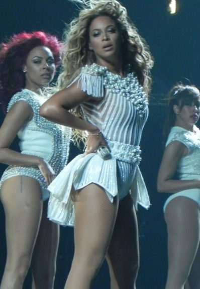 Beyoncé performs during the Mrs. Carter Show World Tour at the Staples Center in Los Angeles. Mandatory Credit: INFphoto.com