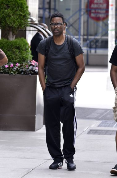 Chris Rock takes a break from filming<em> Finally Famous</em> and is spotted out in NYC's Soho neighborhood.