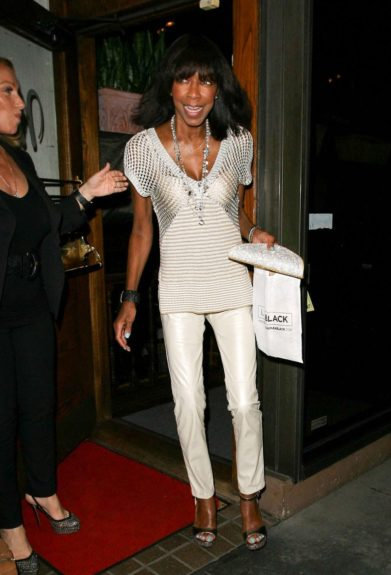 Natalie Cole dines at Madeo restaurant in West Hollywood. Mandatory Credit: INFphoto.com