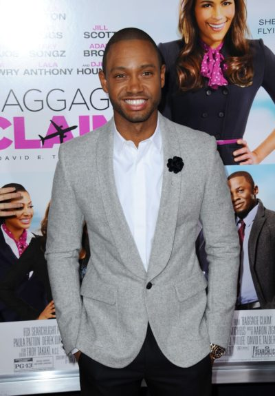 Terrence J. arriving at the premiere of 'Baggage Claim' in Los Angeles, California.