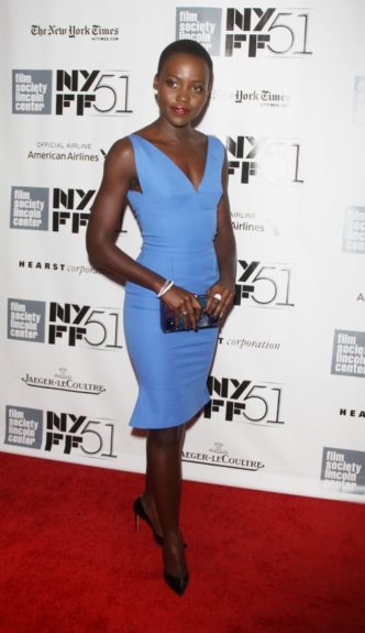 Lupita Nyong'o attendingthe 51st New York Film Festival presents<em>12 Years a Slave</em>at Alice Tully Hall at Lincoln Center in New York City.