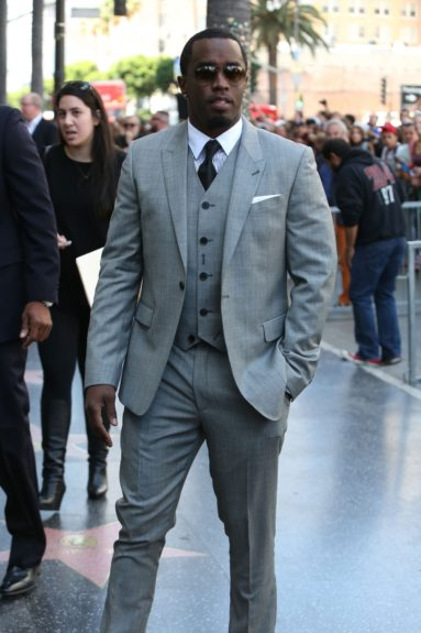 """Sean Combs, aka Diddy, is seen after attending the ceremony honoringKenny """"Babyface"""" Edmonds with a star on theHollywood Walk of Fame in Hollywood, California."""