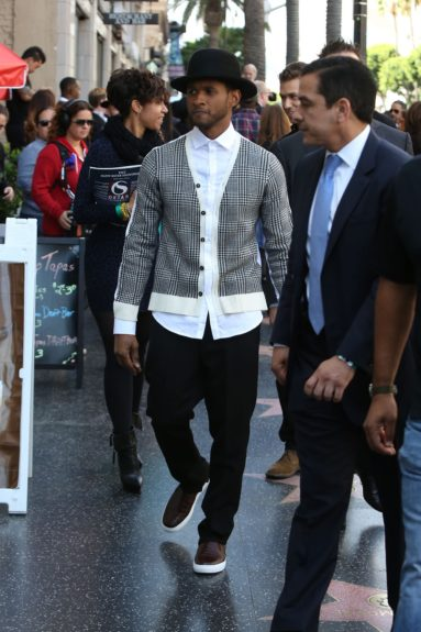 """Usher is seen after attending the ceremony honoringKenny """"Babyface"""" Edmonds with a star on theHollywood Walk of Fame in Hollywood, California."""