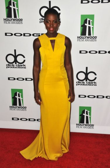 October 21, 2013: Lupita Nyong'o at the 17th Annual Hollywood Film Awards at the Beverly Hilton Hotel in Beverly Hills. Mandatory Credit: Peter West/ACE/INFphoto.com Ref: infusny-220