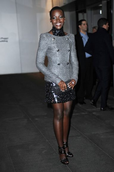 November 05, 2013: Lupita Nyong'o arriving at the Museum of Modern Art 2013 Film Benefit - A Tribute to Tilda Swinton in New York City. Mandatory Credit: Kristin Callahan/ACE/INFphoto.com Ref: infusny-220