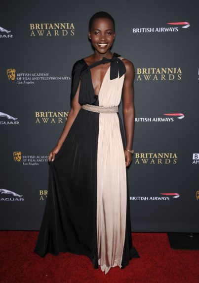 November 9, 2013: Lupita Nyong'o attending the 2013 BAFTA LA Jaguar Britannia Awards presented by BBC America, held at the Beverly Hilton Hotel in Beverly Hills. Mandatory Credit: Jennifer Graylock/INFphoto.com Ref: infusny-142