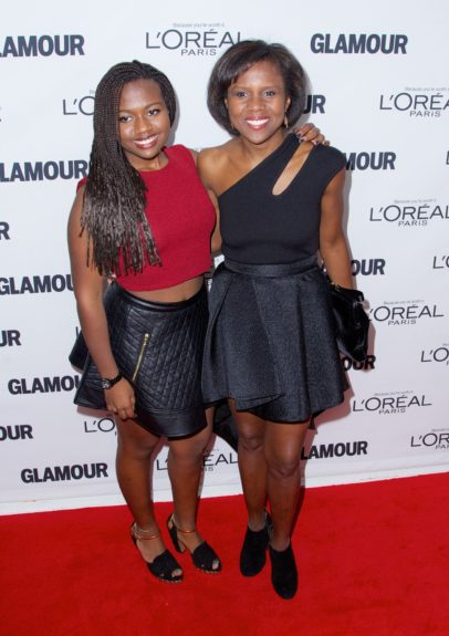 Deborah Roberts, Leila Roker attending the 2013 Glamour Women of the Year Awards, held at Carnegie Hall in New York City.