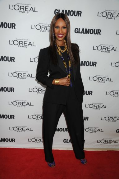 Iman attends the 2013 Glamour Women of the Year Awards, held at Carnegie Hall in New York City.