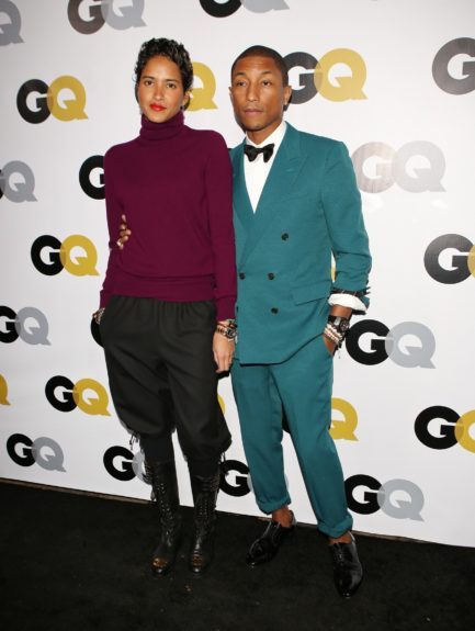 Pharrell Williams arriving at <em>GQ</em> Celebrates the 2013 Men of the Year at the Wilshire Ebell Theatre in Los Angeles.