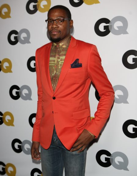 Kevin Durant arriving at <em>GQ</em> Celebrates the 2013 Men of the Year at the Wilshire Ebell Theatre in Los Angeles.
