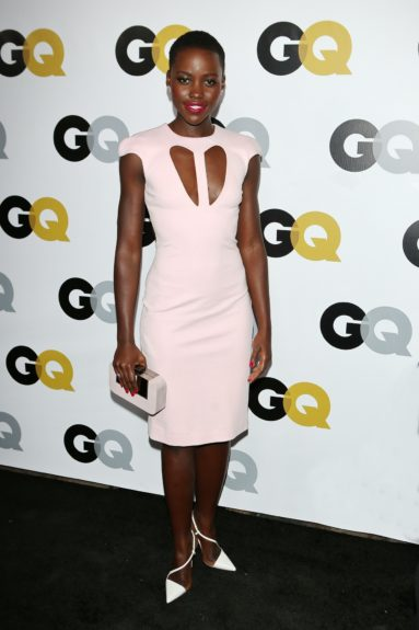 Lupita Nyong'o arriving at <em>GQ</em> Celebrates the 2013 Men of the Year at the Wilshire Ebell Theatre in Los Angeles.