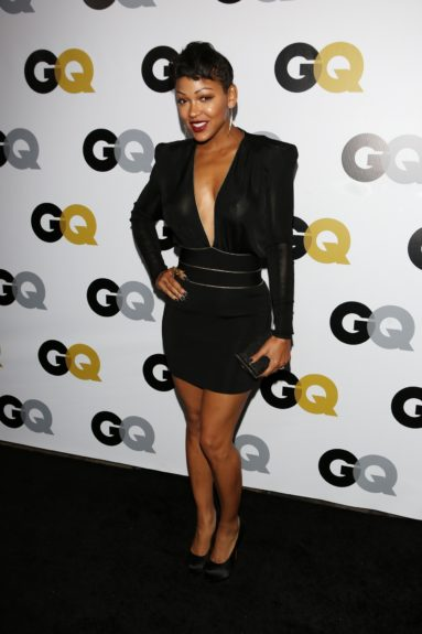 Meagan Good arriving at <em>GQ</em> Celebrates the 2013 Men of the Year at the Wilshire Ebell Theatre in Los Angeles.