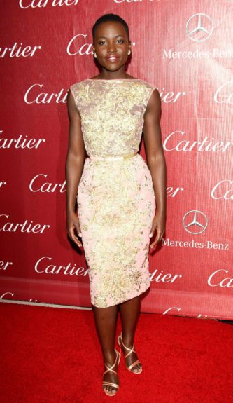 January 4, 2014: Lupita Nyong'o at the 25th Annual Palm Springs International Film Festival today in Palm Springs. Mandatory Credit: Famous/ACE/INFphoto.com Ref: infusny-220