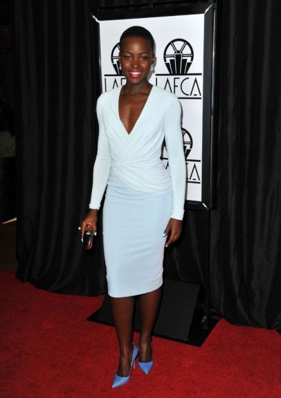 January 11, 2014: Lupita Nyong'o attending the 39th Annual Los Angeles Film Critics Association Awards at the InterContinental Hotel in Los Angeles. Mandatory Credit: Peter West/ACE/INFphoto.com Ref: infusny-220