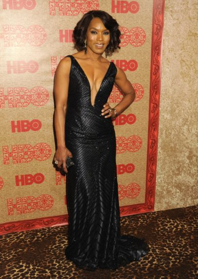 Angela Bassett attending the HBO Golden Globes afterparty during the 71st Annual Golden Globe Awards, held at the Beverly Hilton in Beverly Hills.