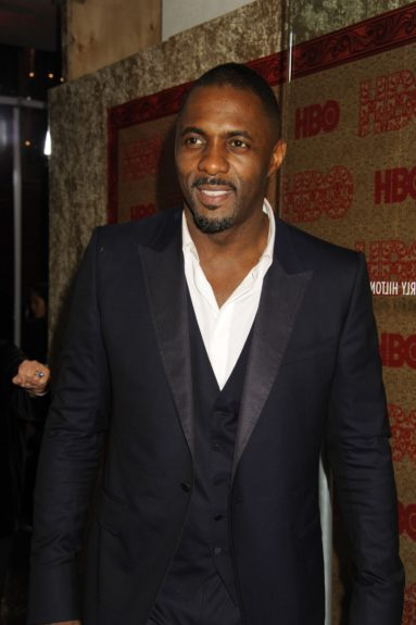 Idris Elba attends the HBO Golden Globes afterparty during the 71st Annual Golden Globe Awards, held at the Beverly Hilton in Beverly Hills.