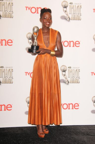 Lupita Nyong'o at the 45th annual NAACP Image Awards