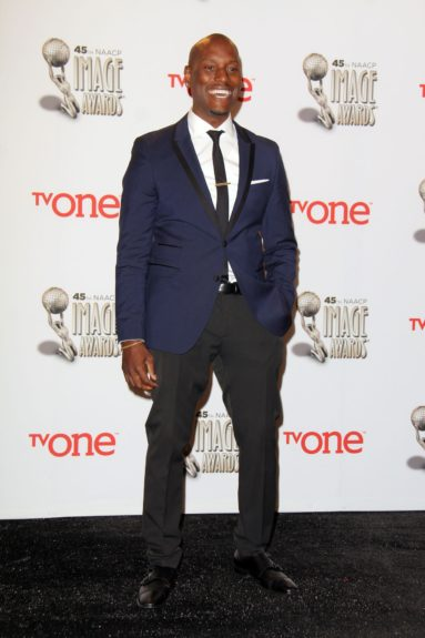 Tyrese Gibson at the 45th annual NAACP Image Awards