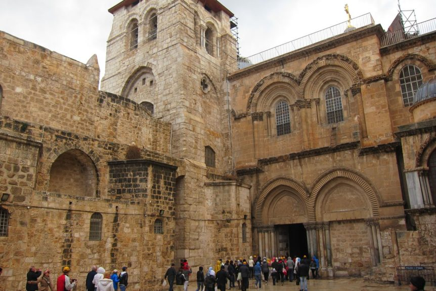 Entrance, Church of Holy Sepulchre (photo by Teri Johnson)