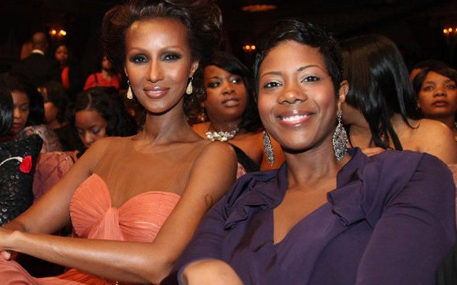 Iman and daughter Zulekha Haywood attend the 2011 BET Honors ceremony