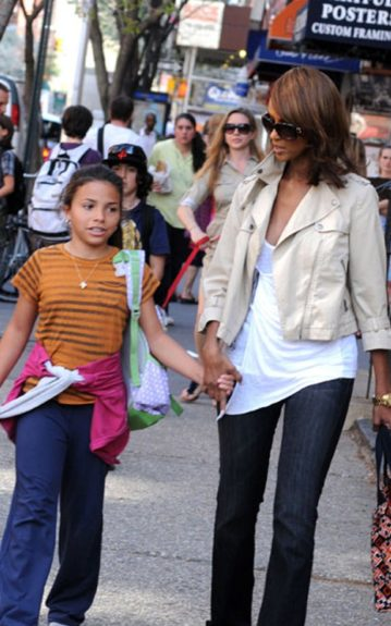 School's Out: Iman and daughter, Alexandria walk down the NYC streets