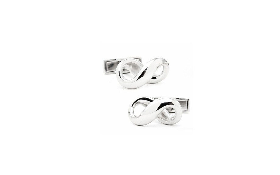 Sterling Silver Infinity Cufflinks, $195 a pair at cufflinks.com