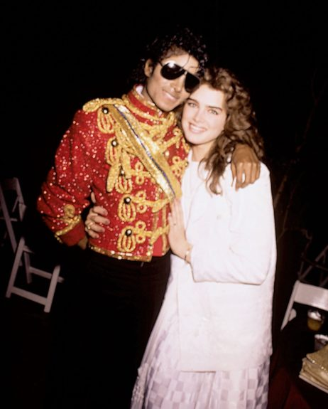 Michael Jackson with actress Brooke Shields (1984)
