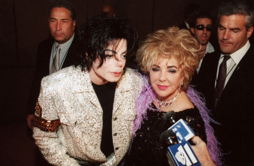 Michael Jackson with buddy Elizabeth Taylor