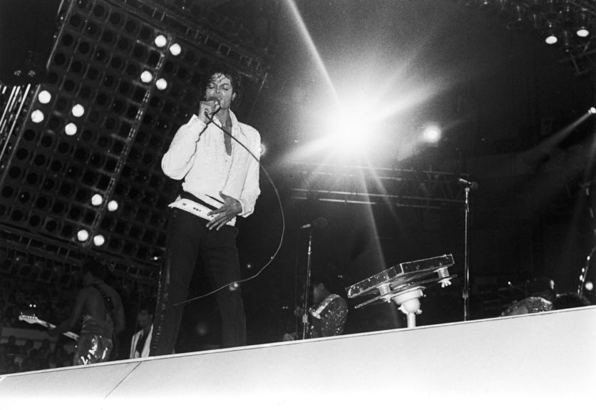 Michael Jackson rocks the stage circa 1987