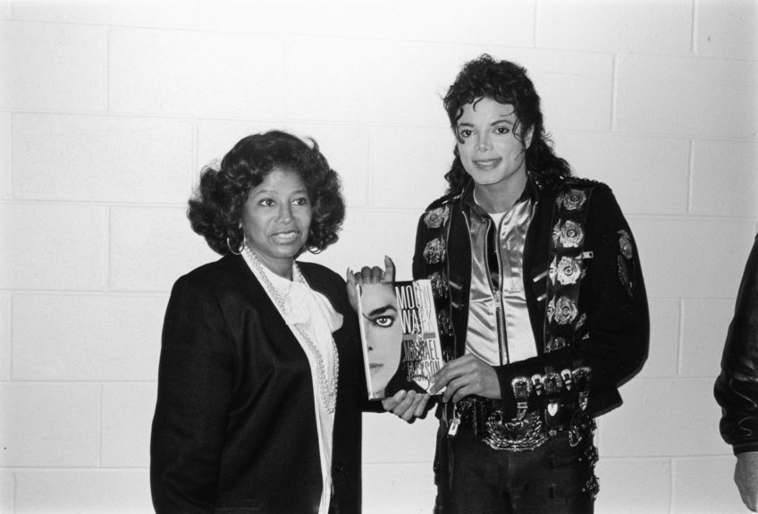 Jackson matriarch Katherine Jackson with MJ (1987)