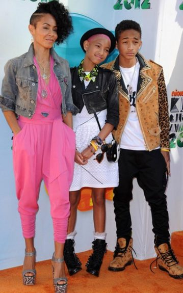 The Cool Kids: Jada Pinkett-Smith with her children Willow and Jayden at the Nickelodeon Kid's Choice Awards