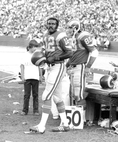 "<p> 	<strong>1974</strong></p> <p> 	James ""Shack"" Harris of the Los Angeles Rams became the first Black quarterback to be named a team's starter.</p>"