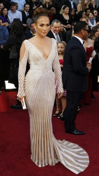 Presenter Jennifer Lopez stole the show as usual in a sultry Zuhair Murad cutout gown and Lorraine Schwartz jewels